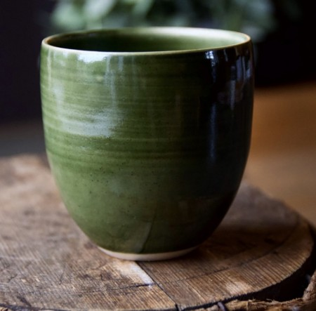 Kaffekopp pinjegrønn - Coffee cup dark green